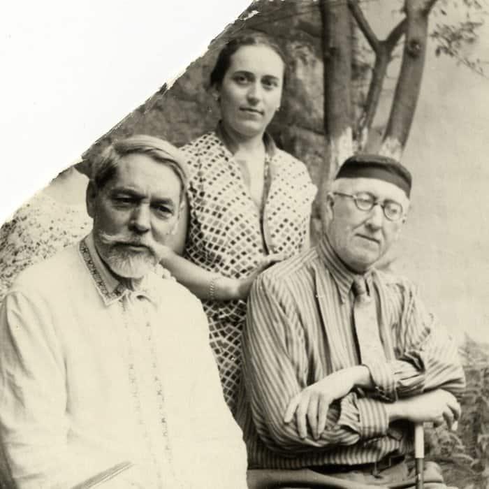 Слева направо: Л. П. Семенов, А. А. Тахо-Годи, А. Ф. Лосев