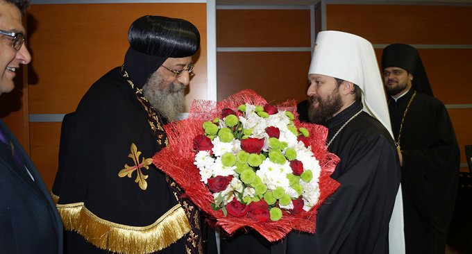 Коптский патриарх Феодор II прибыл с визитом в Москву