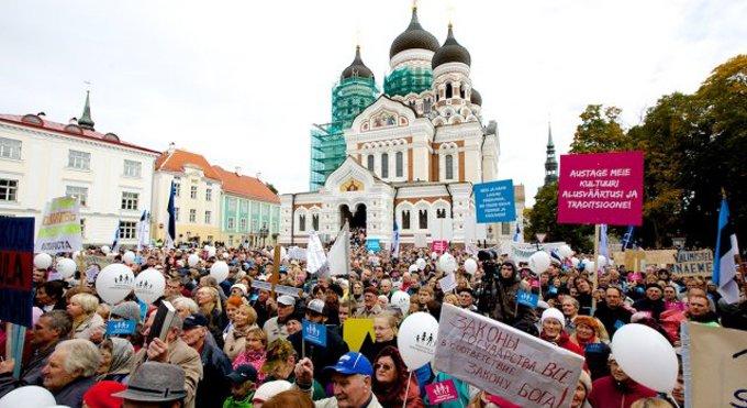 Жители Таллина сказали «нет» однополым бракам