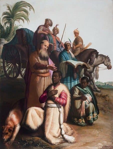 Рембрандт. Крещение евнуха. 1626.