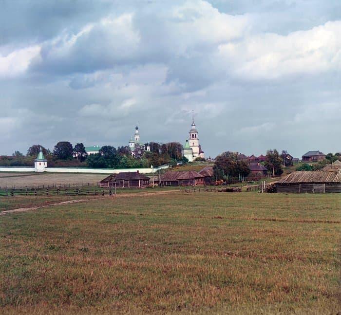 Успенский Колоцкий монастырь. Фото С. М. Прокудина- Горского, 1911 год