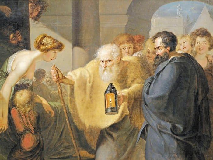 Ищу человека (Диоген Синопский). Иоганн Генрих Вильгельм Тишбейн. Ок. 1780