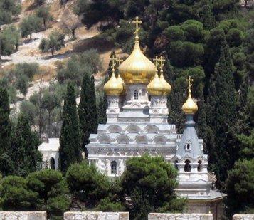 Храм святой равноапостольной Марии Магдалины в Гефсимании