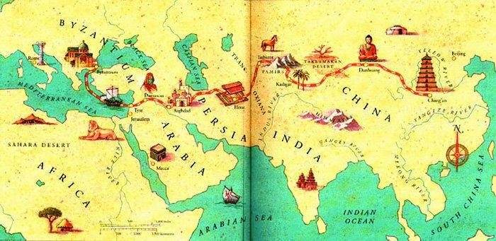 Великий шелковый путь из Европы в Китай — вероятно, именно так апостол Фома пришел в Индию