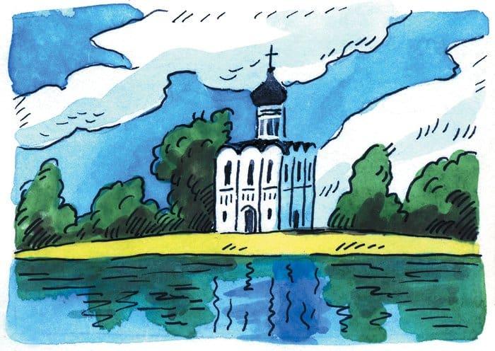 Великий князь Андрей приказал возвести на реке Нерли, неподалеку от его резиденции в Боголюбове, каменный храм во имя Покрова Пресвятой Богородицы. Храм поставили на красивейшем холме над водой.