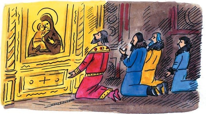 Древняя царственность в XIV веке перешла от Владимира к Москве. А Москва унаследовала от Владимира особое почитание Богородицы. Ее стали считать небесной покровительницей Московской земли. Перед иконами Пресвятой Богородицы московские правители коленопреклоненно молились, отправляясь в самые опасные походы. Поэтому в Москве и ее окрестностях так много храмов и монастырей, освященных во имя Покрова Пречистой