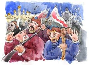 Вождями земства были князья Дмитрий Пожарский, Дмитрий Трубецкой, а также нижегородский купец Козьма Минин. Они осадили неприятеля в Москве. Иноземный гарнизон занимал центр русской столицы — Китай-город и Кремль. Когда неприятельская армия пришла ему на помощь снаружи, ополченцы отважно бились с нею три дня. Противник потерпел поражение и отступил от города.