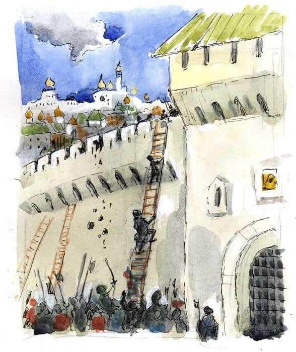 22 октября 1612 года (4 ноября по новому стилю) земцы пошли на штурм Китай-города. После короткой, но жестокой битвы они взошли на стены, а потом заняли все китайгородские улицы. Это был последний бой в истории очищения Москвы от неприятельских войск.