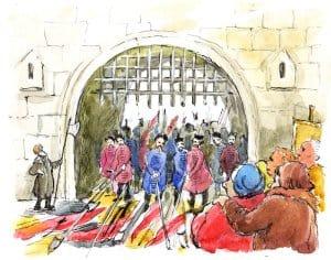 Иноземные захватчики заперлись в Кремле. Однако голод и холод вскоре заставили их сдаться. Пять дней спустя они открыли ворота, вышли наружу, положили оружие и знамена  к ногам победителей.