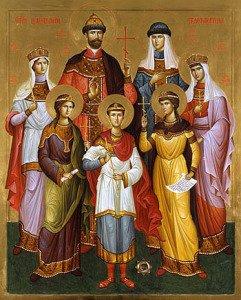 Глав. Икона царской семьи