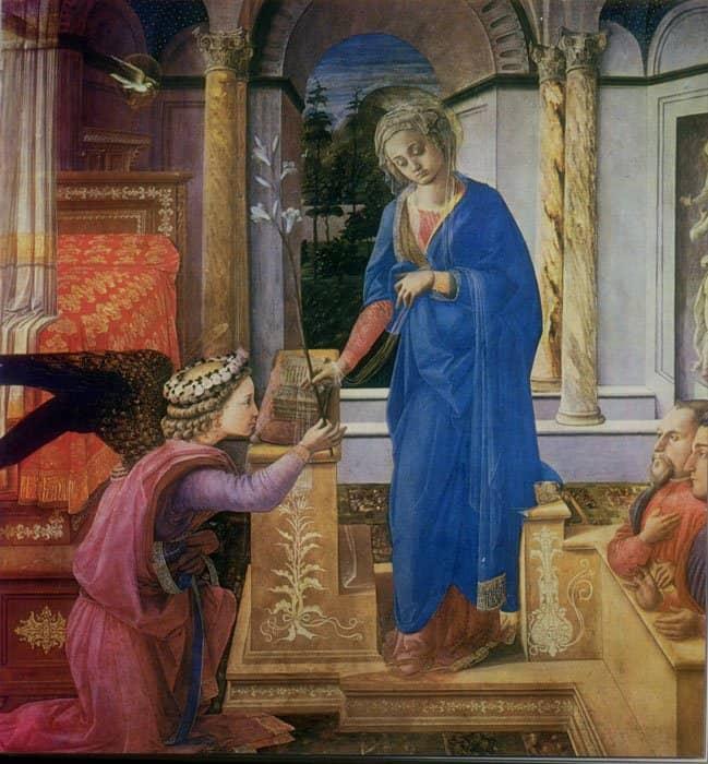 Благовещение. Фра Филиппо Липпи, 1455 г