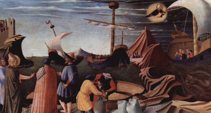 Чудо святого Николая с житом (Фра Беато Анджелико)