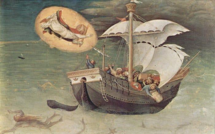 Спасение моряков Святителем Николаем. (Джентиле да Фабриано, ок. 1425)