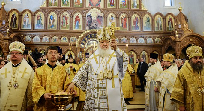 Патриарх Кирилл освятил калининградский храм Александра Невского