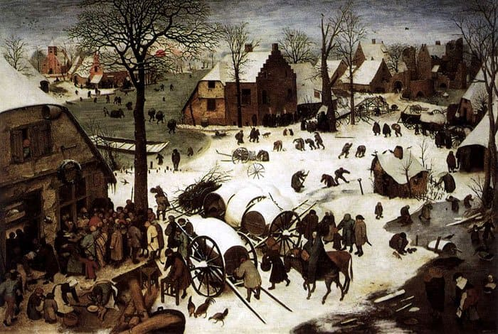 Перепись в Вифлееме. Питер Брейгель Старший, 1566 г.