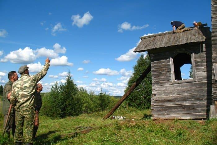 Церковь Афанасия и Кирилла Александрийских патриархов, д. Никитинская (Матегора), Архангельская область.