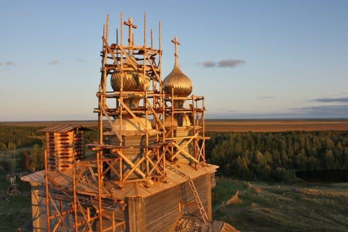 Церковь Николая Чудотворца. с. Ворзогоры. Работы