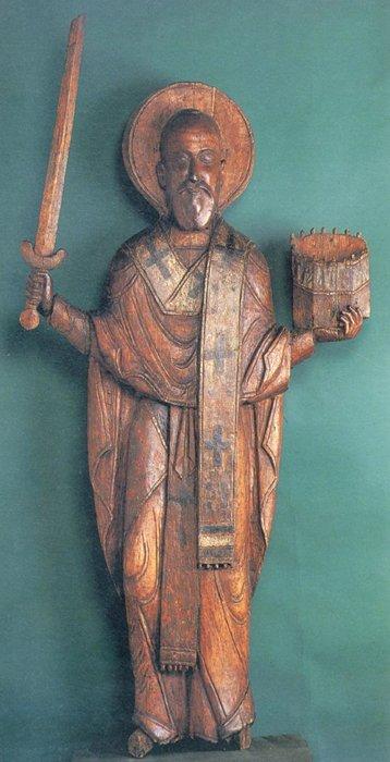 Скульптурная икона святителя Николая Чудотворца. Государственная Третьяковская галерея.