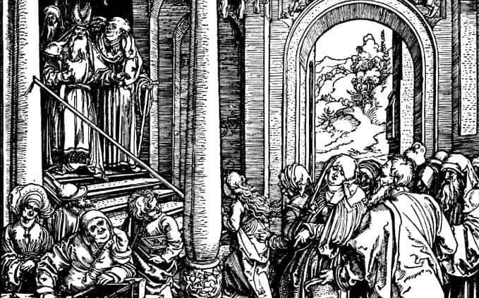 Альбрехт Дюрер: Введение Богородицы во храм