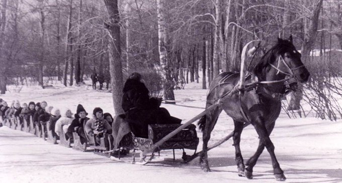http://www.retromap.ru, Санный путь, 1969, Сокольники