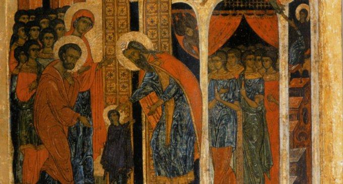 Иконография праздника Введения во храм Пресвятой Богородицы