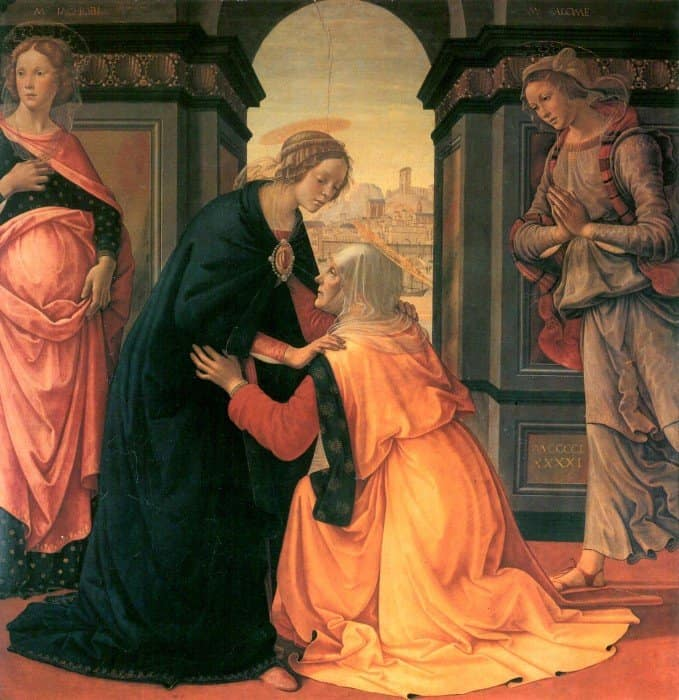 Посещение Марией Елизаветы, 1491 год. Гирландайо Доменико