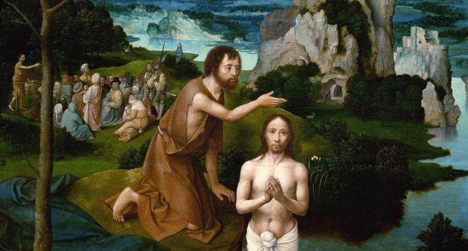 Крещение Христа. Йоахим Патинир 1515 г.
