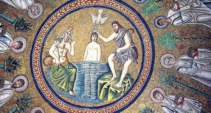 Картинки иконы крещение господне