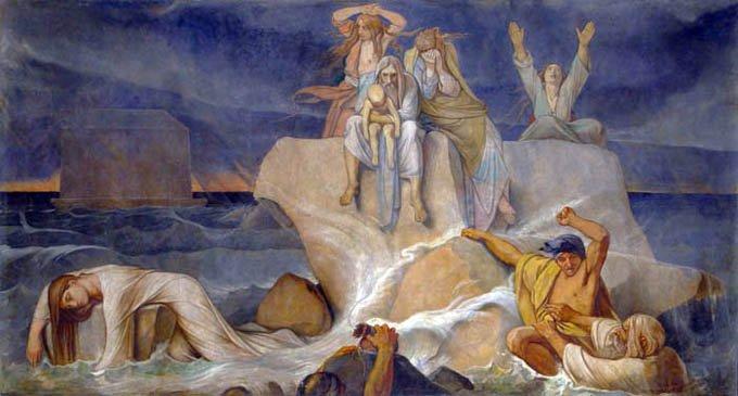 Всемирный потоп. Роспись Исаакиевского собора, Санкт-Петербург