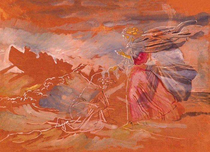 Хождение по водам (Христос спасает начавшего тонуть Петра). 1850-е гг.