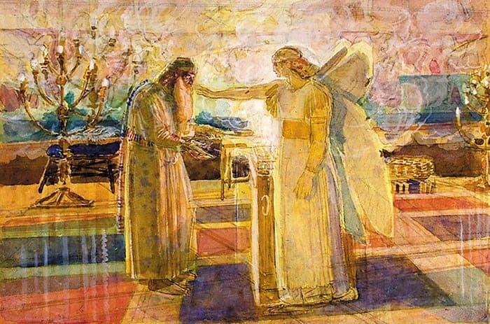 Архангел Гавриил поражает Захарию немотой. 1850-е гг.