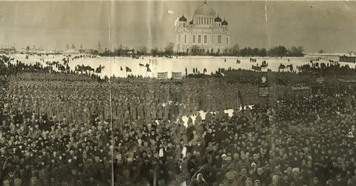 Революционный митинг. 12 марта 1917 г., Вятка