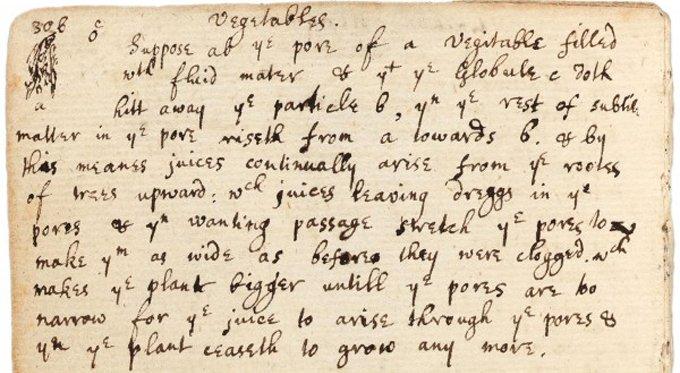 Британские ученые нашли неизвестные записи Ньютона