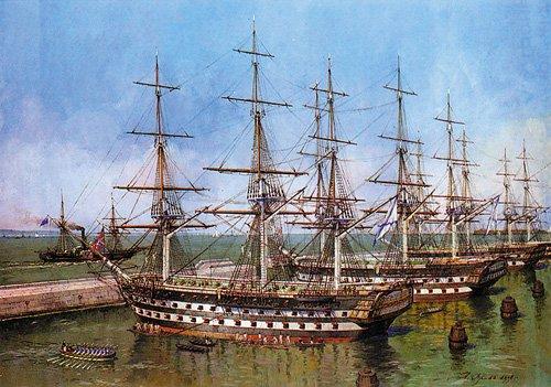 Аналогичный  «Лефорту»   84-пушечный корабль  «Императрица Александра»