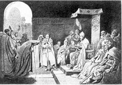 Игумен Даниил на приеме у короля Балдуина