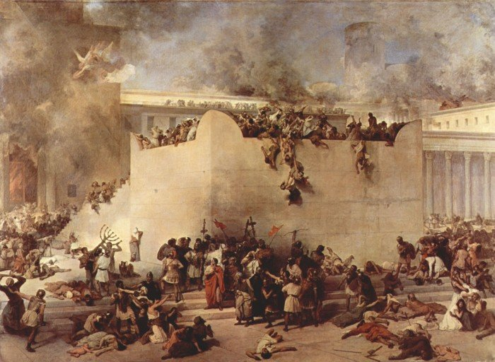 Разрушение Иерусалимского храма. Хайес Ф., 1867 г.