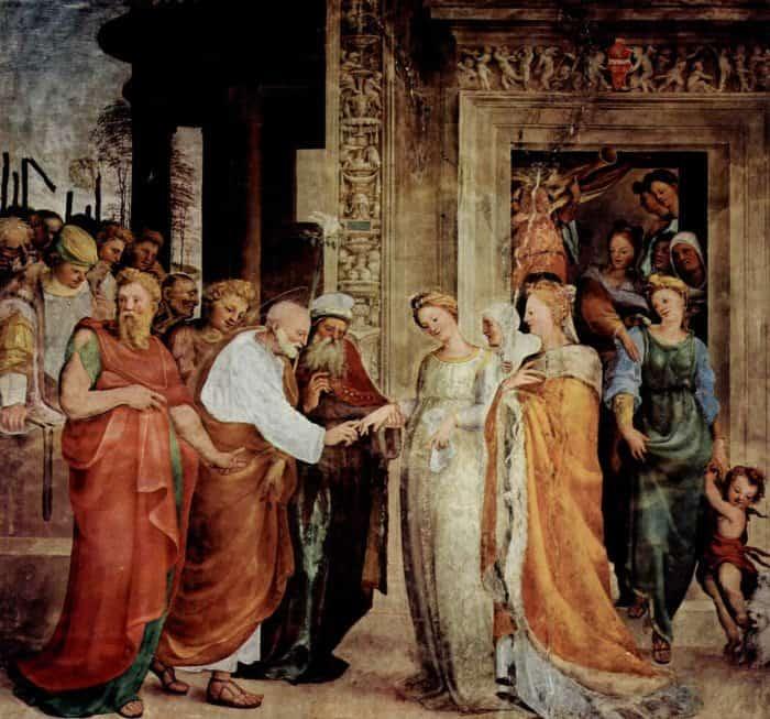 Обручение Марии и Иосифа. Доменико Беккафуми, 1518 г.