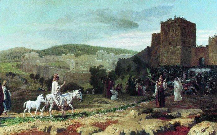 Вход Господень в Иерусалим. Жан-Леон Жером, 1897 г.