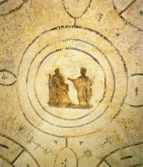 Благовещение. Катакомбы Присциллы, II–III вв.