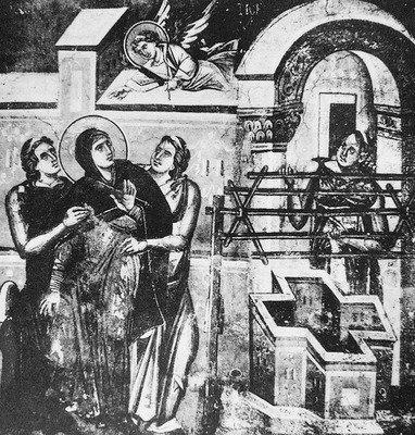 Роспись церкви Богородицы Перивлепты в Охриде.