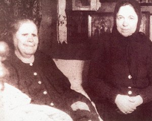 Матрона с одной из посетительниц. 1952 г.