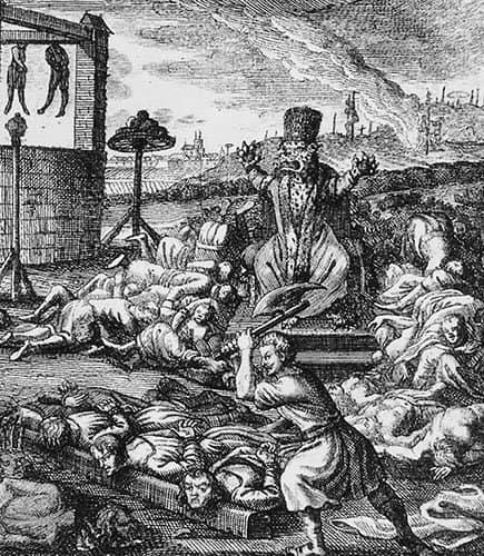 Немецкая карикатура  на правление Иоанна Грозного