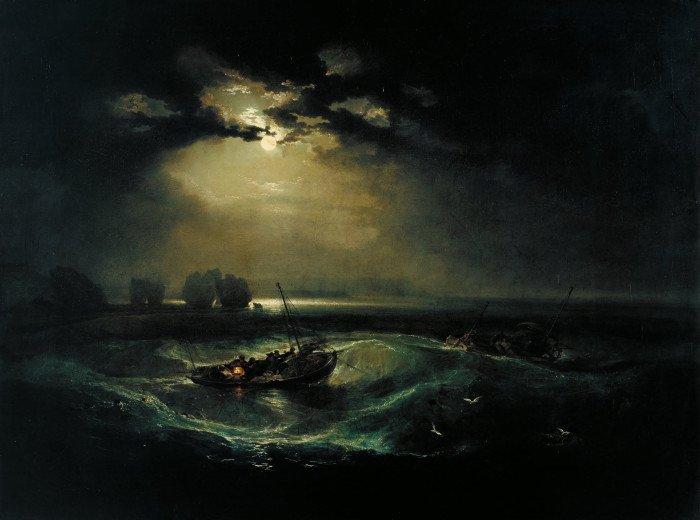 Рыбаки в море. 1796 г. 91 x 122 см. Холст. Масло. Тейт Британ, Лондон, Великобритания