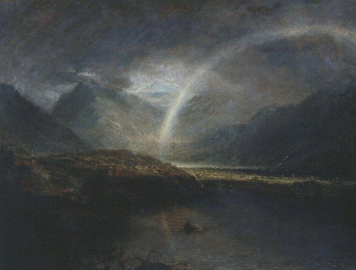 Озеро Баттермир, с радугой и ливнем. 1798 г. Холст, масло. Тейт Британ, Лондон, Великобритания
