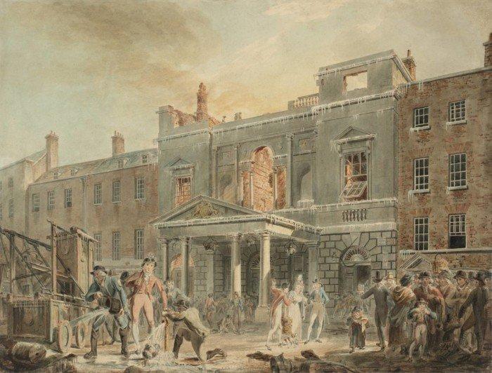 Пантеон, утро после пожара. 1792 г. Акварель, 39,5 x 51,5 см Тейт Британ, Лондон, Великобритания