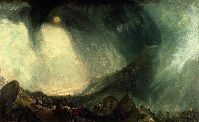 Переход Ганнибала через Альпы. 1812 237,5 x 146 см. Холст. Масло. Тейт Британ, Лондон, Великобритания.
