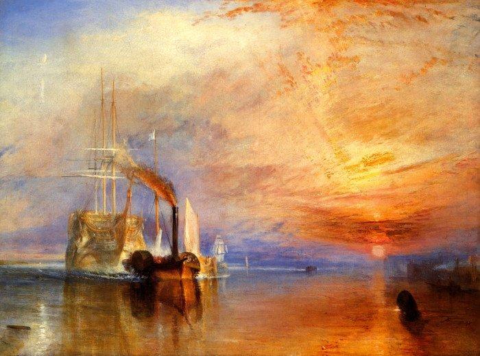 Последний рейс корабля «Отважный» («Бесстрашный»). 1839 г. 121,9 x 90,8 см. Холст. Масло. Лондонская Национальная галерея, Лондон, Великобритания.
