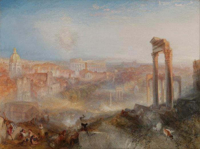 Современный Рим — Кампо Ваччино. 1839. Холст, масло. 90,2 × 122 см. Музей Гетти, Лос-Анджелес