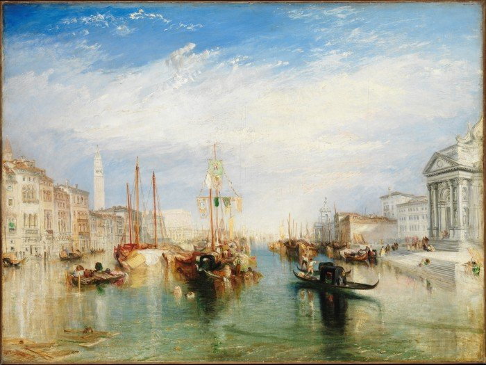 Большой канал в Венеции. 1835. Холст, масло. 91,4 х 122,2 см. Музей Метрополитен, Нью-Йорк