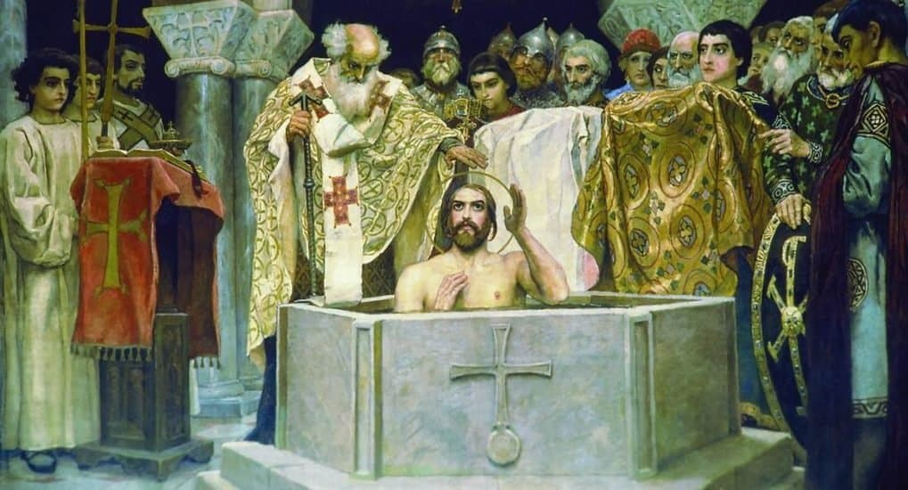 Картинка крещения руси князем владимиром